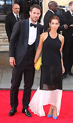 JAMIE AND LOUISE REDKNAPP arrives for the BAFTA TV Awards at the Theatre Royal, London, United Kingdom. Sunday, 18th May 2014. Picture by i-Images