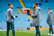 Leeds United midfielder Kalvin Phillips (23) and Leeds United forward Tyler Roberts (11) arrive at the ground during the EFL Sky Bet Championship match between Leeds United and Blackburn Rovers at Elland Road, Leeds, England on 9 November 2019.