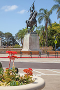 The El Cid Sculpture at Balboa Park San Diego