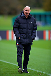 CARDIFF, WALES - Monday, October 15, 2018: Wales' head of public affairs Ian Gwyn Hughes during a training session at the Vale Resort ahead of the UEFA Nations League Group Stage League B Group 4 match between Republic of Ireland and Wales. (Pic by David Rawcliffe/Propaganda)