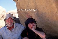 French chef Pierre Gagnaire with photographer friend Owen Franken, in Algeria, on a private trip