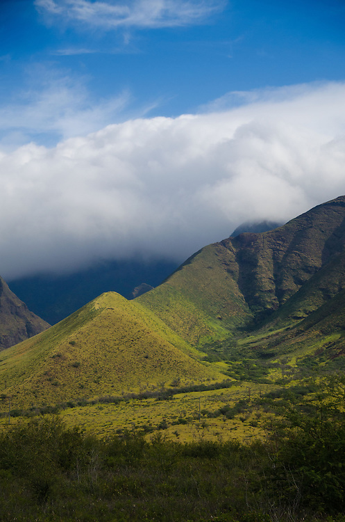 Sky, Clouds and Mountains of West Maui, Hawaii, US