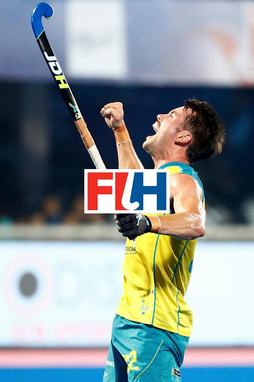 Odisha Men's Hockey World League Final Bhubaneswar 2017<br /> Match id:22<br /> Argentina v Australia<br /> Foto: Jeremy Hayward (Aus) scored 0-1<br /> WORLDSPORTPICS COPYRIGHT KOEN SUYK