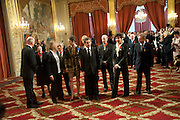 PRESIDENT NICOLAS SARKOZY AND THE RECIPIENTS OF THE LEGION D'HONNEUR AWARDS. . Legion d'honneur awards. Elysee Palace, Presidence. Rue du Faubourg. 50 Rue de la Bienfaisance. Paris. 07 April 2010