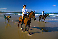 SOUTH AFRICA, DECEMBER 2004. Horseriding in the diving resort of Sodwana BaySouth African Nature offers some of the world's best adrenaline sports and outdoor challenges. Photo by Frits Meyst/Adventure4ever.com