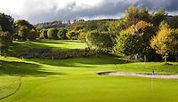WESTERBURG , DUITSLAND - Hole 2, Golf Club Wiesensee bij Lindner Hotel & Sporting Club Wiesensee in Westerburg (Westerwald). COPYRIGHT KOEN SUYK
