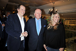 TOM PARKER BOWLES, ANDREW PARKER BOWLES and his daughter LAURA LOPES at the launch of Tom Parker Bowles's new book 'Full English' held in the Gallery Restaurant, Selfridges, Oxford Street, London on 9th September 2009.