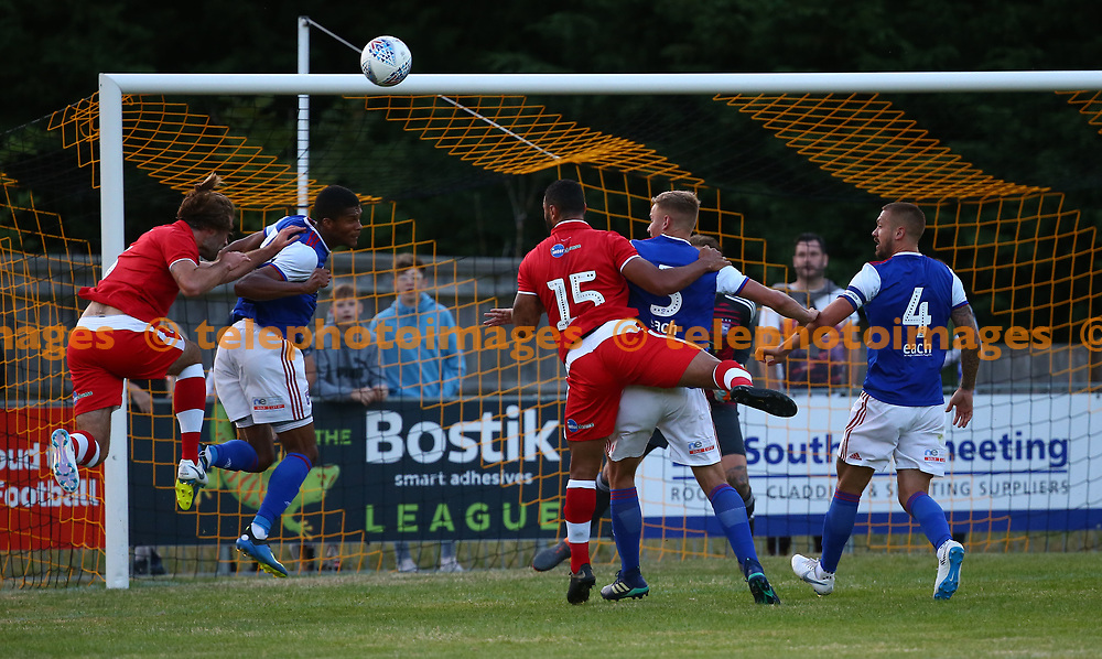 Action during the pre season friendly between Crawley Town and Ipswich Town at East Court, East Grinstead, UK. 17 July 2018.