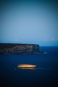 Sydney Ferry passing North Head, Sydney Harbour, Australia