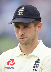 England's Chris Woakes during day three of the Second NatWest Test match at Headingley, Leeds. PRESS ASSOCIATION Photo. Picture date: Sunday June 3, 2018. See PA story CRICKET England. Photo credit should read: Nigel French/PA Wire. RESTRICTIONS: Editorial use only. No commercial use without prior written consent of the ECB. Still image use only. No moving images to emulate broadcast. No removing or obscuring of sponsor logos.
