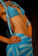 A model presents a creation by designer Satya Paul during a fashion show in New Delhi, India, Tuesday, April 5, 2005. (AP Photo/Sebastian John)