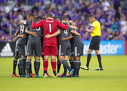 April 21, 2018 - Orlando, FL, U.S. - ORLANDO, FL - APRIL 21: Orlando City starting 11 during the MLS soccer match between the Orlando City FC and the San Jose Earthquakes at Orlando City SC on April 21, 2018 at Orlando City Stadium in Orlando, FL. (Photo by Andrew Bershaw/Icon Sportswire) (Credit Image: © Andrew Bershaw/Icon SMI via ZUMA Press)