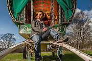 Gypsy caravanning in the Eden Valley, Cumbria for Wanderlust magazine.