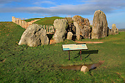 West Kennet neolithic long barrow, Wiltshire, England, UK