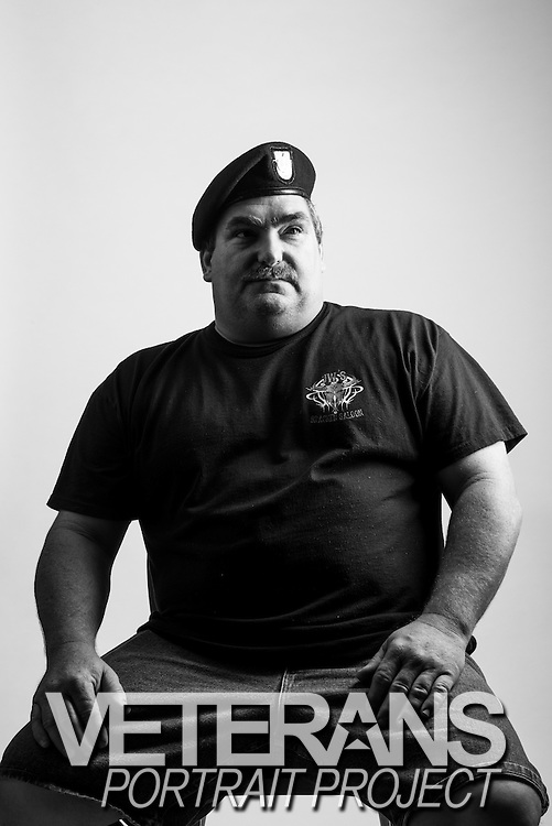 Bryan Thomas<br /> Army<br /> E-7<br /> 13B and 44B<br /> Panama, Desert Storm, Somalia <br /> 1989 - 1996<br /> <br /> Veterans Portrait Project<br /> San Antonio, TX