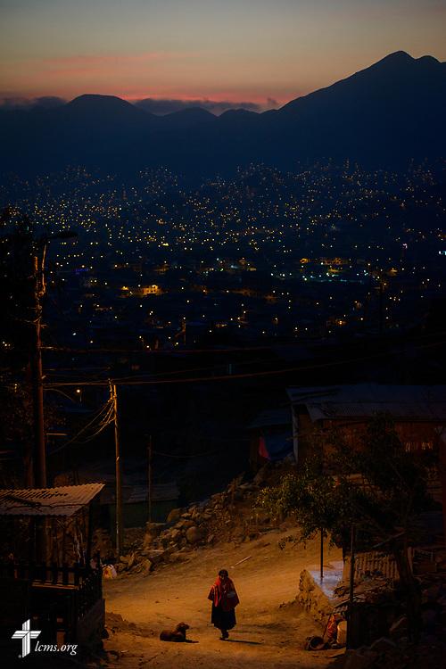 Night falls at Castillo Fuerte in San Juan de Lurigancho on Tuesday Nov. 7 2017, in Peru.  LCMS Communications/Erik M. Lunsford