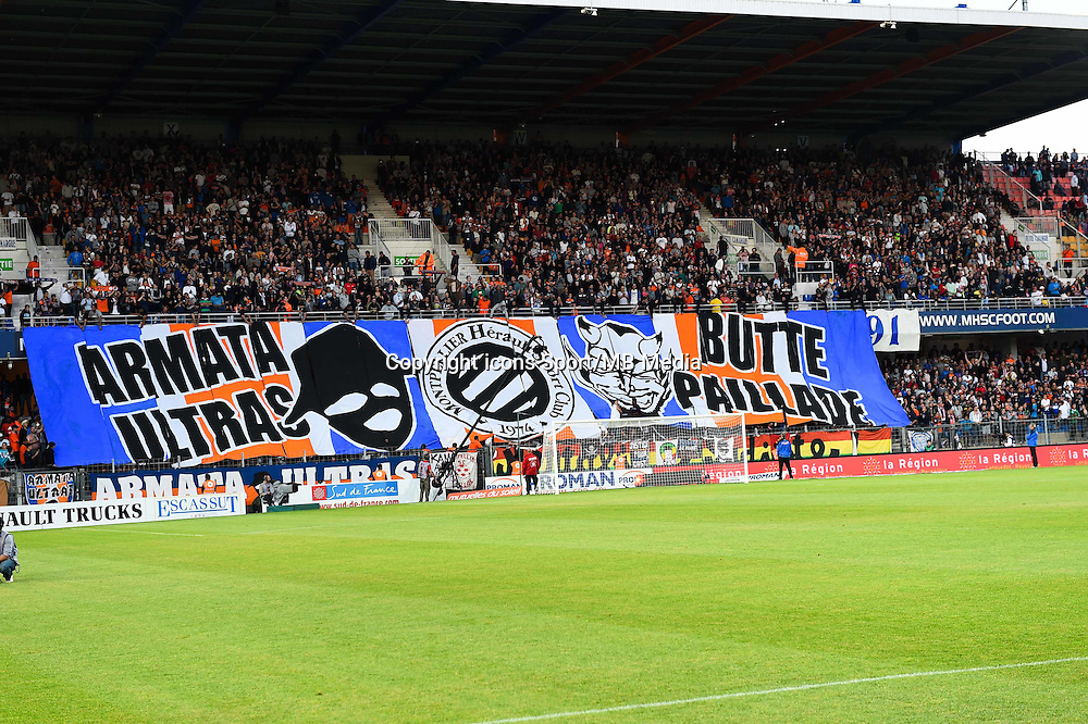 Supporters Montpellier - 16.05.2015 - Montpellier / Paris Saint Germain - 37eme journee de Ligue 1<br />