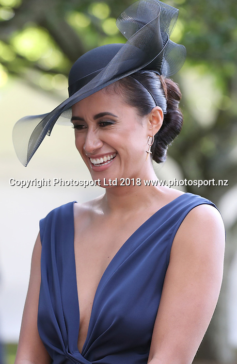Maria Folau at Auckland Cup Day, Ellerslie Racecourse, Auckland, New Zealand, Saturday, March 10, 2018. Copyright photo: David Rowland / www.photosport.nz