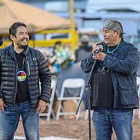 James & Ernie warm up the crowd before the Miss Navajo coronation at the Navajo Nation Fairgrounds in Window Rock Saturday.