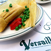 Cuban tamale at Versailles Restaurant a cafeteria, restaurant, and bakery, and a landmark eating establishment located on Calle Ocho (8th St) in Little Havana, Miami.<br /> Photography by Jose More