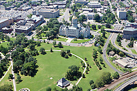 Aerial of Connecticut State Capitol and Skyline, Hartford, CT