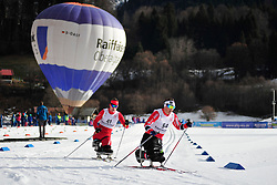 ROSIEK Kamil, POL, LARSEN Trygve Steinar, NOR at the 2014 IPC Nordic Skiing World Cup Finals - Middle Distance