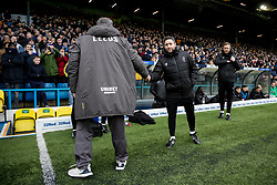 Leeds United Manager Marcelo Bielsa and Bristol City Manager Lee Johnson shake hands before the match - Mandatory by-line: Daniel Chesterton/JMP - 15/02/2020 - FOOTBALL - Elland Road - Leeds, England - Leeds United v Bristol City - Sky Bet Championship