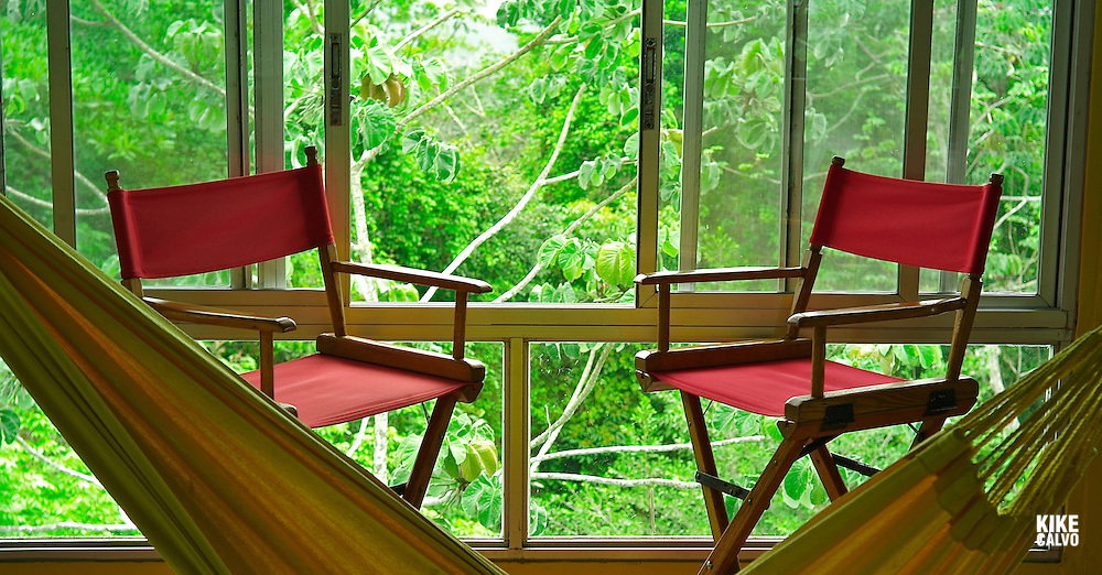 Awaken to a tropical chorus of motmots, toucans, and fruitcrows. ..Your bedroom is at treetop level, no more than 40 feet from the birds. In the cool Panamanian dawn you can feel Panama?'s great rainforest awakening around you. Blue Cotingas and Green Shrike-Vireos, birds normally glimpsed high in the tops of trees, perch right outside your Canopy Tower room...Up a flight of stairs in the dining room, a cup of coffee and rolls await you. Settle down at a table next to the window. Above the endless tropical forest of Soberani?a National Park, a ship glides through the Panama? Canal.