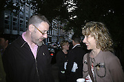 Simon English and Margarita Gluzberg, Book party for Nick Rosen's of How to live Off-Grid. On the corner of Cosmo Place and Queen's Square. London. WC1. 5 June 2007.  -DO NOT ARCHIVE-© Copyright Photograph by Dafydd Jones. 248 Clapham Rd. London SW9 0PZ. Tel 0207 820 0771. www.dafjones.com.