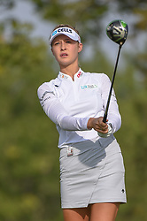 August 23, 2018 - Regina, SK, U.S. - REGINA, SK - AUGUST 23: Nelly Korda (USA) watches her tee shot on 5 during the CP Women's Open Round 1 at Wascana Country Club on August 23, 2018 in Regina, SK, Canada. (Photo by Ken Murray/Icon Sportswire) (Credit Image: © Ken Murray/Icon SMI via ZUMA Press)