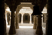 India, Rajasthan, Ranakpur the Jain Temple built in the 14th century