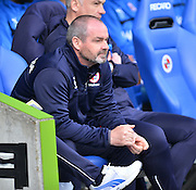 Reading's Manager Steve Clarke during the Sky Bet Championship match between Reading and Blackburn Rovers at the Madejski Stadium, Reading, England on 11 April 2015. Photo by Mark Davies.
