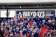13-09-2015 VOETBAL:FEYENOORD-WILLEM II:ROTTERDAM<br /> Supporters van Willem II<br /> <br /> Foto: Geert van Erven