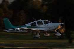 Cirrus SR22T Turbo (N239WA) takes off from Palo Alto Airport (KPAO), Palo Alto, California, United States of America