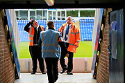 Stewards chatting before the EFL Sky Bet League 1 match between Peterborough United and Wigan Athletic at London Road, Peterborough, England on 23 September 2017. Photo by Nigel Cole.