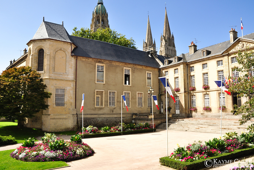 City Center of Bayeux in Normandy, France.