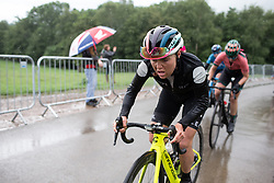 Abby-Mae Parkinson (GBR) of Drops Cycling Team climbs on the final ascent of Stage 4 of 2019 OVO Women's Tour, a 158.9 km road race from Warwick to Burton Dassett, United Kingdom on June 13, 2019. Photo by Balint Hamvas/velofocus.com