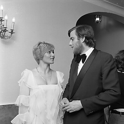The 7th MARQUESS OF NORTHAMPTON and his 2nd wife ANNETTE at a ball in London in May 1975.