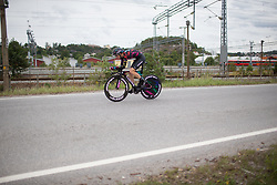 Christa Riffel (GER) of CANYON//SRAM Racing rides during the prologue of the Ladies Tour of Norway - a 3.4 km time trial, starting and finishing in Halden on August 17, 2017, in Ostfold, Norway. (Photo by Balint Hamvas/Velofocus.com)