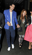 12.APRIL.2012. LONDON<br /> <br /> **EXCLUSIVE PICTURES** <br /> <br /> MARK RONSON AND WIFE JOSEPHINE DE LA BAUME AT THE NOTTING HILL ARTS CLUB IN LONDON<br /> <br /> BYLINE: EDBIMAGEARCHIVE.COM<br /> <br /> *THIS IMAGE IS STRICTLY FOR UK NEWSPAPERS AND MAGAZINES ONLY*<br /> *FOR WORLD WIDE SALES AND WEB USE PLEASE CONTACT EDBIMAGEARCHIVE - 0208 954 5968*