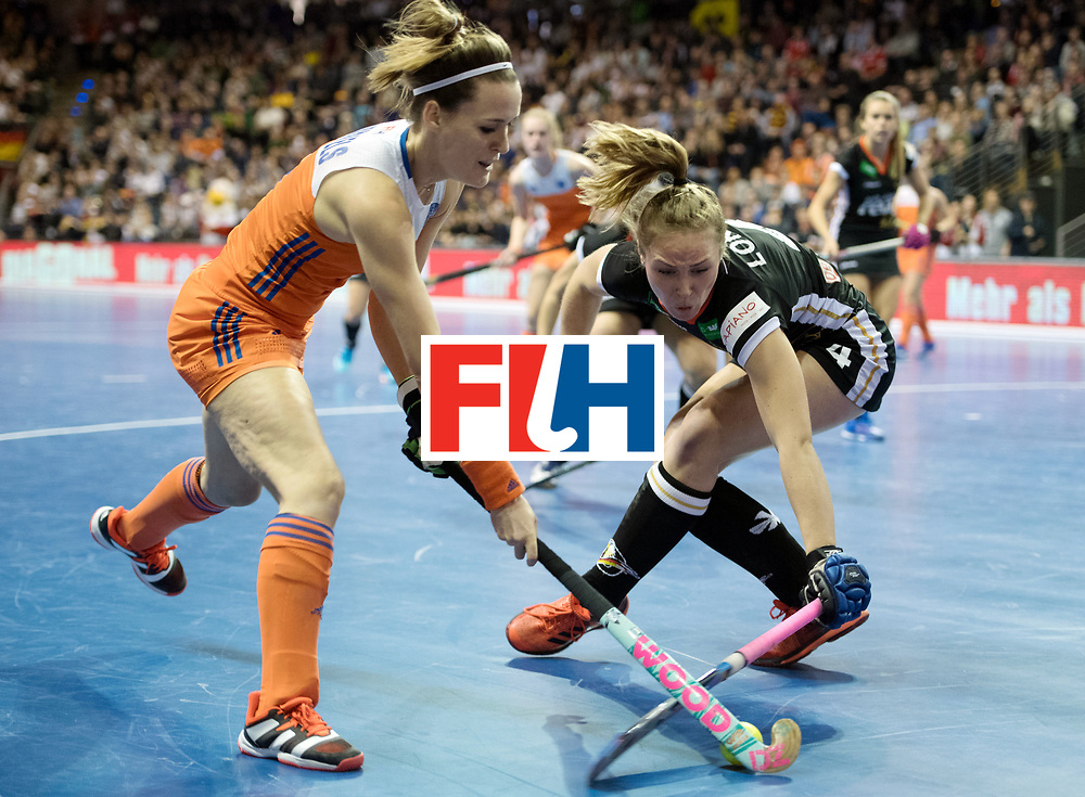BERLIN - Indoor Hockey World Cup<br /> Final: Netherlands - Germany<br /> foto: Donja Zwinkels <br /> WORLDSPORTPICS COPYRIGHT FRANK UIJLENBROEK