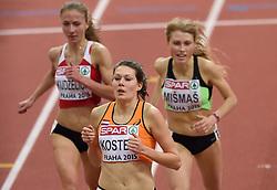 06-03-2015 CZE: European Athletics Indoor Championships, Prague<br /> Atlete Maureen Koster loopt zaterdag de finale van de 3000 meter bij de EK indoor in Praag