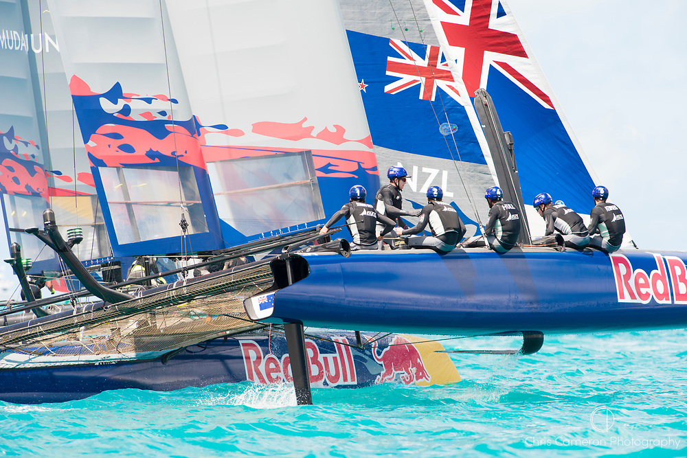 The Great Sound, Bermuda, 20th June 2017, Red Bull Youth America's Cup Finals. Race three, NZL Sailing Team.