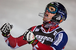 """Dave Ryding (GBR) during FIS Alpine Ski World Cup 2016/17 Men's Slalom race named """"Snow Queen Trophy 2017"""", on January 5, 2017 in Course Crveni Spust at Sljeme hill, Zagreb, Croatia. Photo by Ziga Zupan / Sportida"""