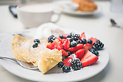 Crepes with berries.