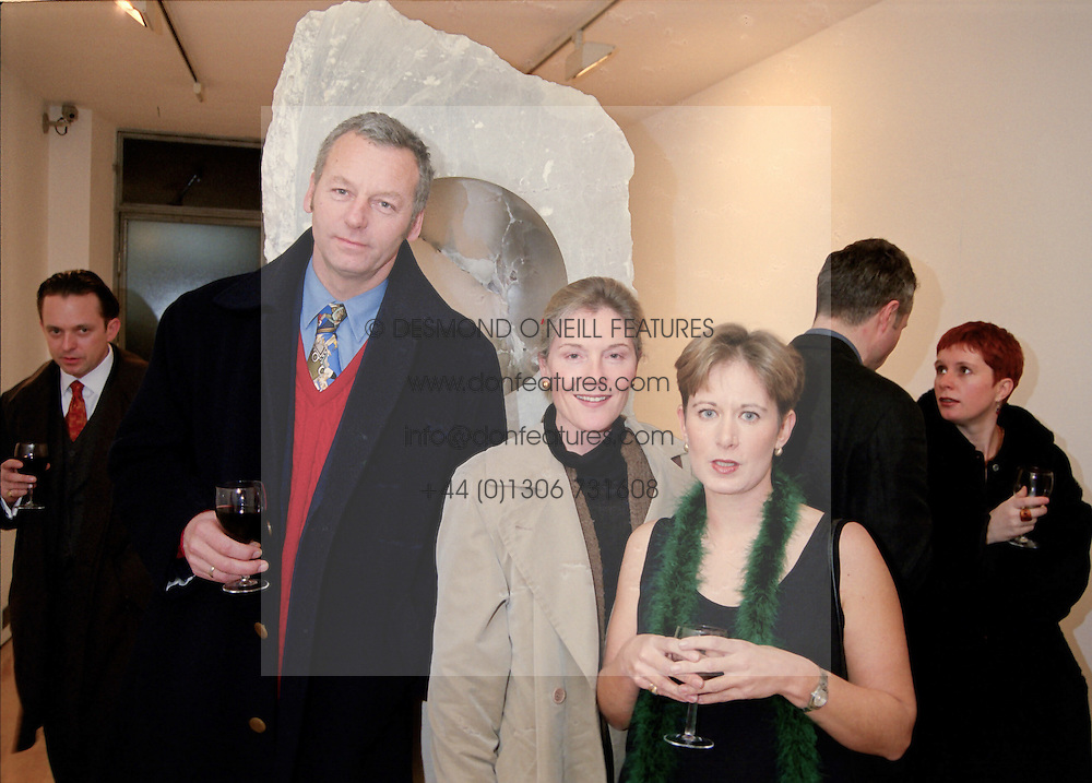 Left to right, MR & MRS PAUL BERROW former manager of pop group Duran Duran and MRS<br /> NICHOLAS LOGSDAIL at an exhibition in London on 21st January 1998.MES 25 2OLO