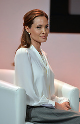 Image ©Licensed to i-Images Picture Agency. 11/06/2014.<br /> <br /> Angelina Jolie attends the Global Summit to End Sexual Violence in Conflict at The ExCel, London, UK.<br /> <br /> Picture by Ben Stevens / i-Images