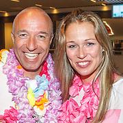NLD/Amsterdam/20150530 - Toppers concert 2015 Crazy Summer edition, Tom Coronel en partner Paulien Zwart