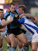 2005/06, Heineken Cup, Warriors's,  Andy Henderson, run is countered in numbers by the bath defence.  Bath Rugby vs Glasgow Warriors, The Rec, Bath, ENGLAND   © Peter Spurrier/Intersport Images - email images@intersport-images..   [Mandatory Credit, Peter Spurier/ Intersport Images].