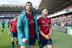 March 30, 2019 - Edinburgh, Scotland, United Kingdom - Jean Klein and Conor Murray of Munster celebrate during the Heineken Champions Cup Quarter Final match between Edinburgh Rugby and Munster Rugby at Murrayfield Stadium in Edinburgh, Scotland, United Kingdom on March 30, 2019  (Credit Image: © Andrew Surma/NurPhoto via ZUMA Press)